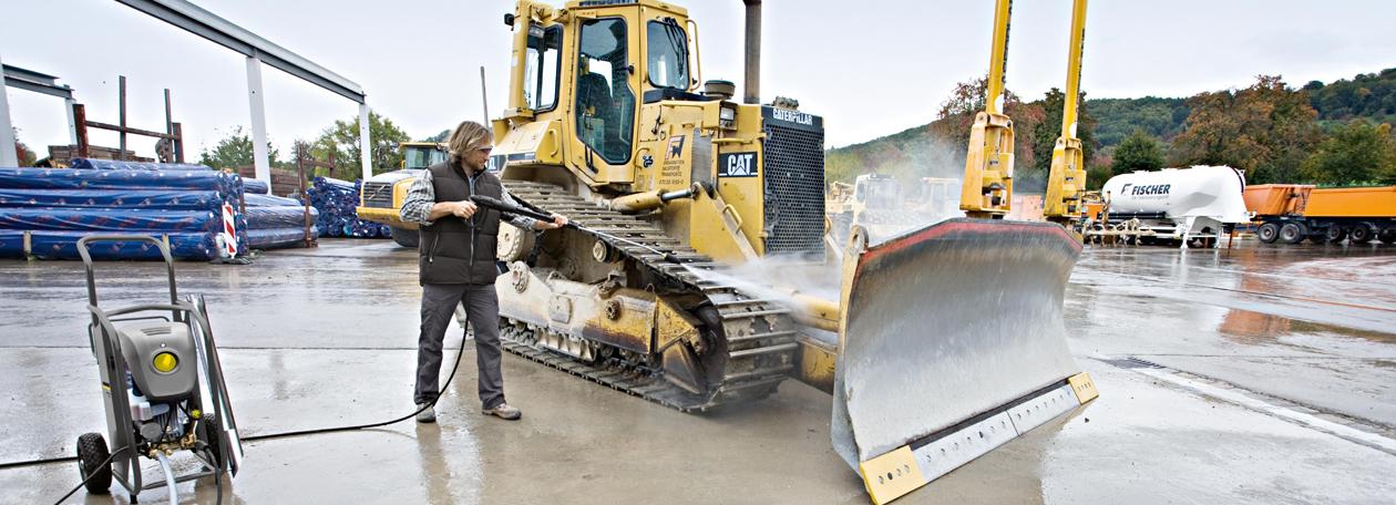 Imagen maquinaria karcher hd en la construcción